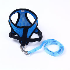 Soft Nylon Harness and Leash Set - Harness I Love Frenchie Bulldogs