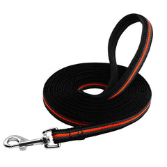 Nylon Distance Training Leash with Padded Handle Special Non-slip Grip - Leash I Love Frenchie Bulldogs