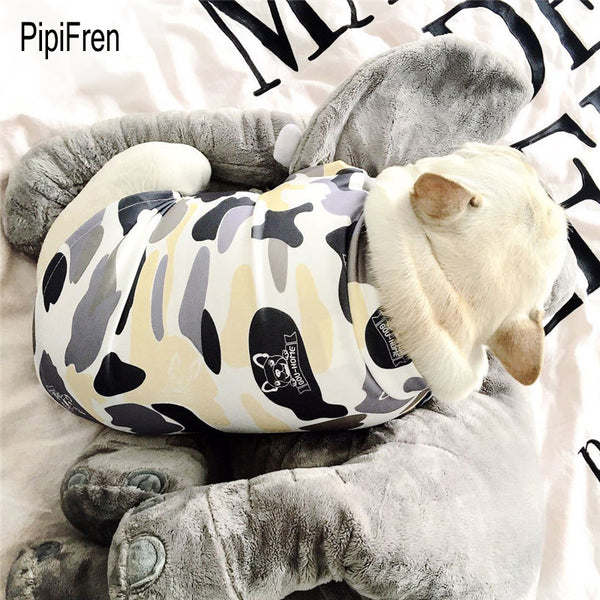 French Bulldog White Camo Print Shirt - Dog Clothing I Love Frenchie Bulldogs