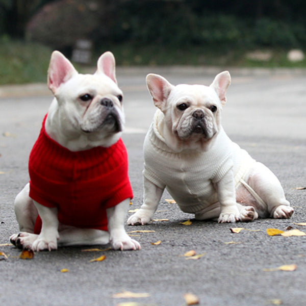 Warm Cozy Knit Sweater - Dog Clothing I Love Frenchie Bulldogs