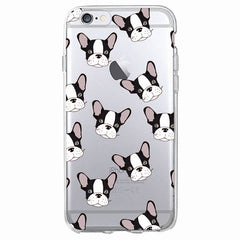 French Bulldog Clear Silicone Phone Cases for iPhone or Samsung Galaxy - Cell Phone Cases I Love Frenchie Bulldogs