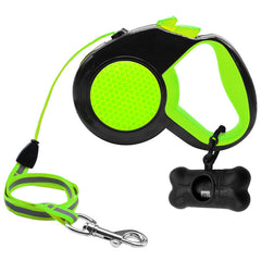 5M Retractable Reflective Leash FREE Waste Bag Carrier - Leash I Love Frenchie Bulldogs