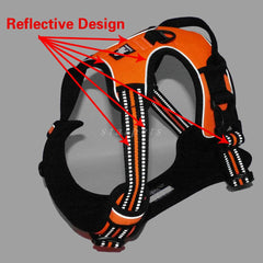 Nylon Reflective Dog Harness Vest With Handle - Harness I Love Frenchie Bulldogs