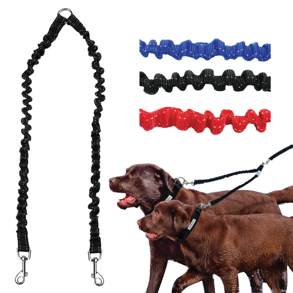Bungee Double Coupler Leash Splitter - Leash I Love Frenchie Bulldogs