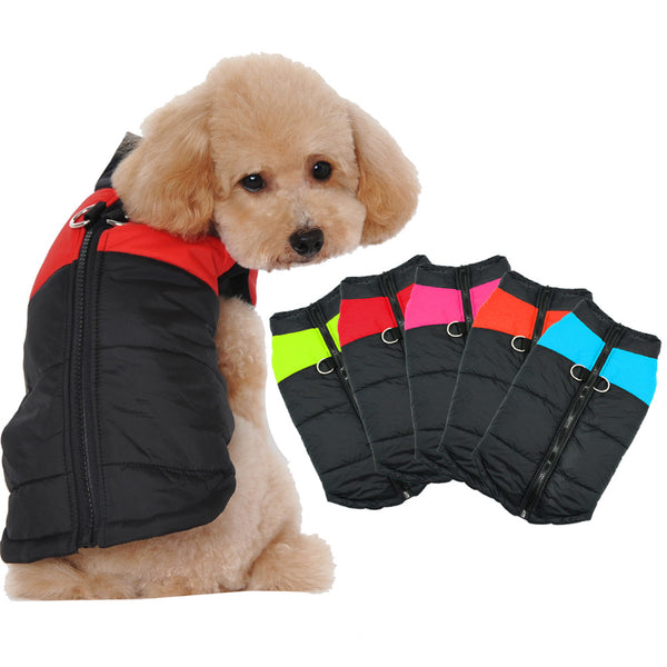 Nylon Quilted Warm Winter Dog Vest - Dog Clothing I Love Frenchie Bulldogs