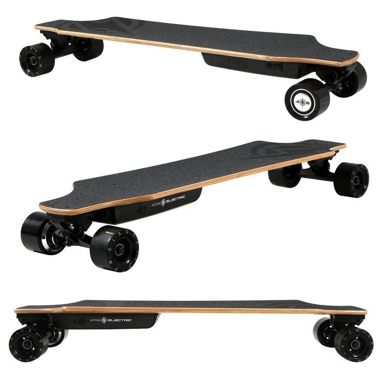 Remote Control Skateboard >> Atom H10 Electric Longboard Skateboard Wireless Remote Control 104wh Lithium Rechargeable Battery 700w Hub Motor
