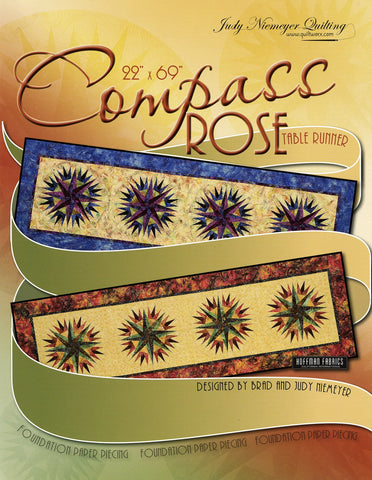 Compass Rose Table Runner pattern by Quiltworx