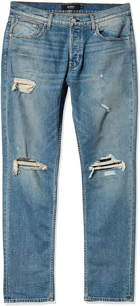 Hudson Blake Slim Straight Distressed Jeans