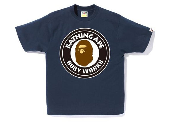 BAPE Busy Works Tee Navy