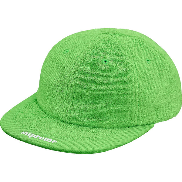Supreme Terry Visor Logo 6-Panel in Lime