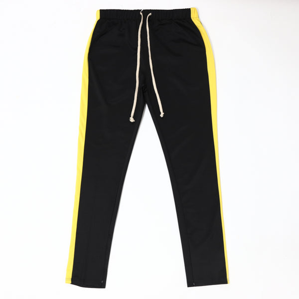 Yellow and Black Track Pant