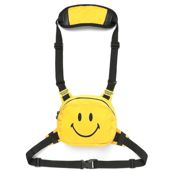 Chinatown Market Smiley Face Chest Rig - Yellow