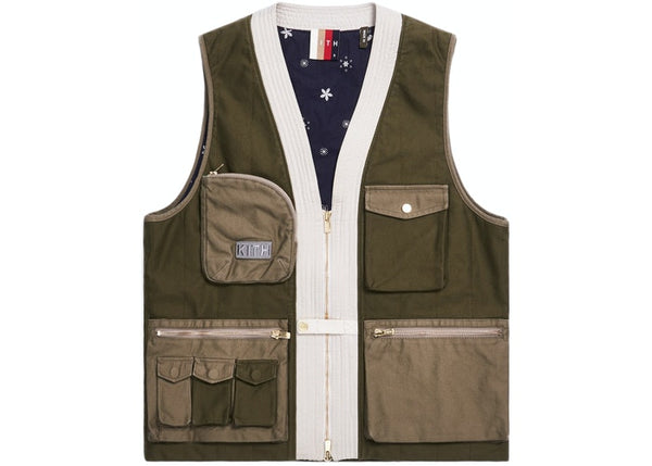 Kith Military Sateen Quilted Tactical Vest Olive