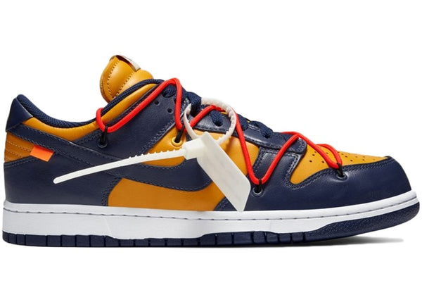 Nike Dunk Low Off White University Gold Midnight Navy