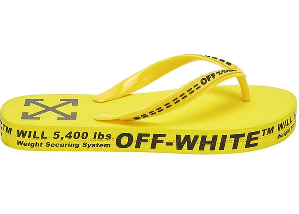 Off-White Logo Typographic Flip Flop Yellow SS20