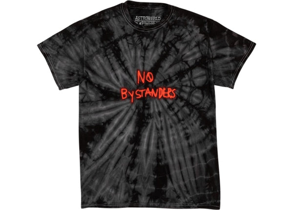 Travis Scott No Bystanders Tee Black Tie Dye