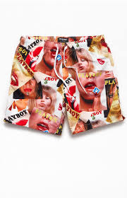 "Playboy Cover 17"" Swim Trunks"