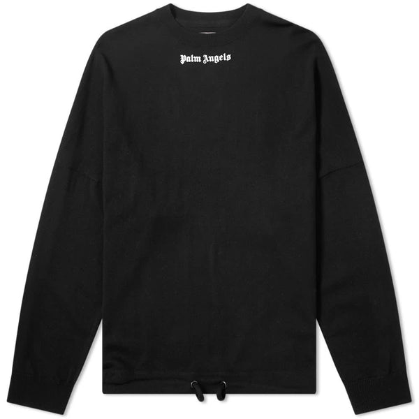 Palm Angels logo over sweater black