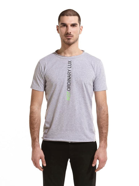Not Ordinary Luxury Grey Tee Black/Green Print
