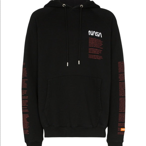 Heron Preston NASA Print Hoodie Black