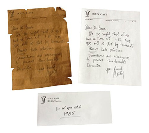 Back To The Future Marty's Letter To Doc Replica Prop