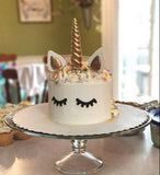Unicorn Cake Topper , Reusable Unicorn Horn, Ears and Eyelashes