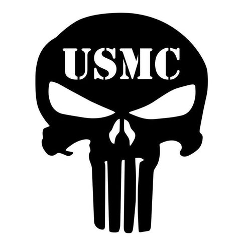 14x9.5cm USMC PUNISHER SKULL Car Sticker