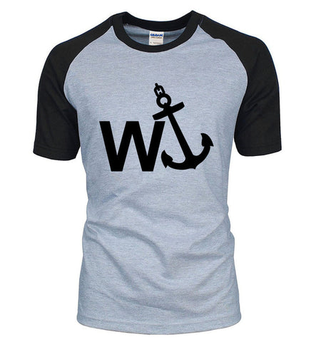 W' Anchor Novelty Cotton Baseball Tee