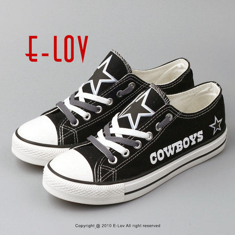 Dallas Cowboys USA Canvas Shoes With Star Print NFL Football Team Fans Shoes Boy Men Graffiti Casual shoes Gift