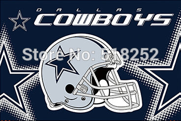 Dallas Cowboys new helmet Flag 3x5 FT  NFL Banner 100D Polyester Custom