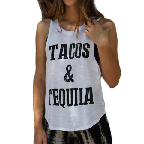 Sleeveless Tacos & Tequila Shirt