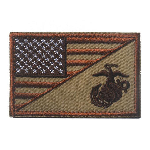 USMC/Flag Morale Embroidered Patch