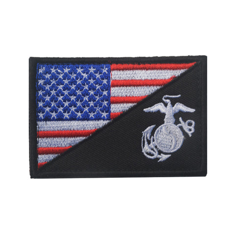 USMC/USA Flag Embroidered Patch