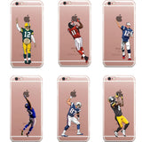 Phone Case NFL American USA Football For iPhone 5 5s SE 6 6S 7 7Plus 6SPlus Clear Protective Back Cover
