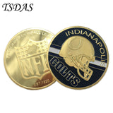 NFL RAIDERS Bimetallic Coin USA Gold Metal Collecting America Sport Coin Football 1pc