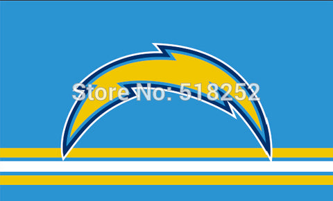 San Diego Chargers Three Lines Flag 3x5 FT NFL Banner 100D Polyester Custom