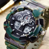 SBAO Army Military Camouflage Watch Men Famous Brand Fashion Electronic LED Digital Sport Watches Male Clock Relogio Masculino