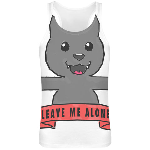 Leave Me Alone Sublimation Tank Top - 100% Soft Polyester