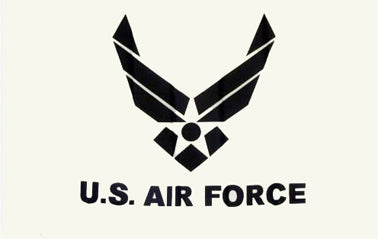 US AIR FORCE WHITE FLAG 3ft x 5ft Polyester Material