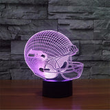 NFL 3D Light Touch LED Lamp 7 Colors Dallas Cowboys 3D