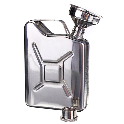 "5oz Stainless Steel ""Gas Can"" Flask"