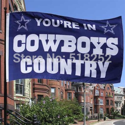 Dallas Cowboys Flag 3x5 FT  Banner 100D Polyester NFL