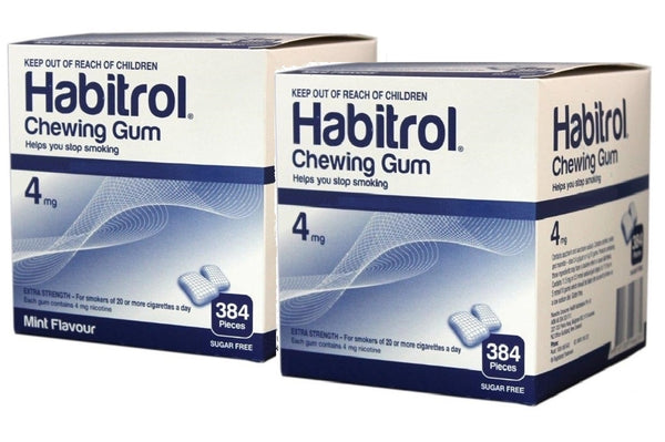 Habitrol Nicotine Gum Combo 4mg Mint & Fruit Flavor Bulk Packs