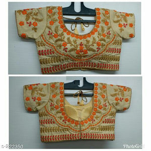 Designer Banglori Silk Embroidered Blouses -  by Shrayathi