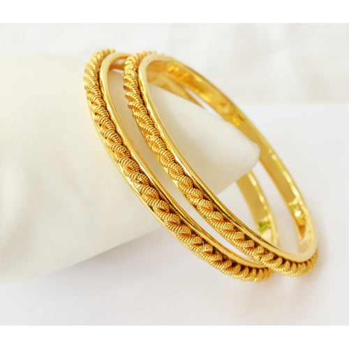 Twisted Gold plated bangle - Bangle by Shrayathi