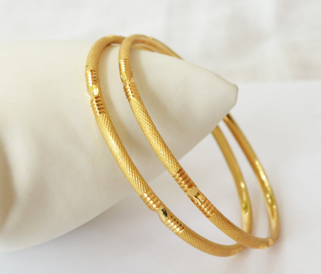 Gold Plated Forming Pipe Bangle - Bangle by Shrayathi