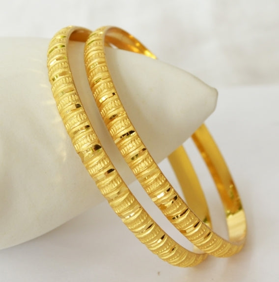 Gold plated bangle - Bangle by Shrayathi