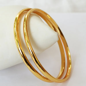 Beautiful Gold plated bangle - Bangle by Shrayathi
