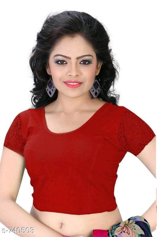 Attractive Cotton Lycra Women's Blouses Vol 1