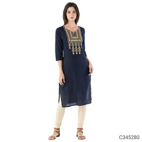 Women's Beautiful Pure Cotton Elegant  Kurtis